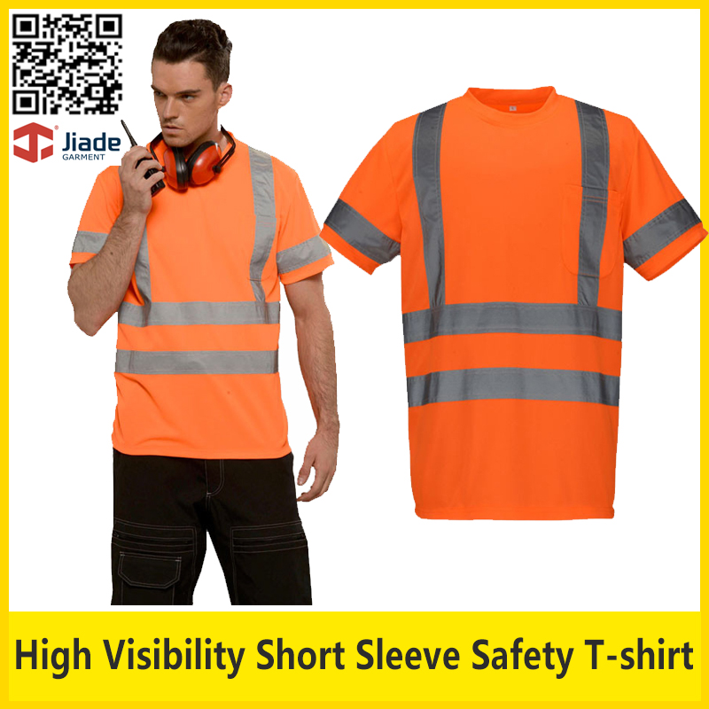 Jiade Hi vis breathable reflective safety T-shirt orange short sleeve work t shirt safety clothing free shipping women solid one piece swimsuit halter backless bandage bodysuit monokini deep v neck sexy high waist vintage beach wear
