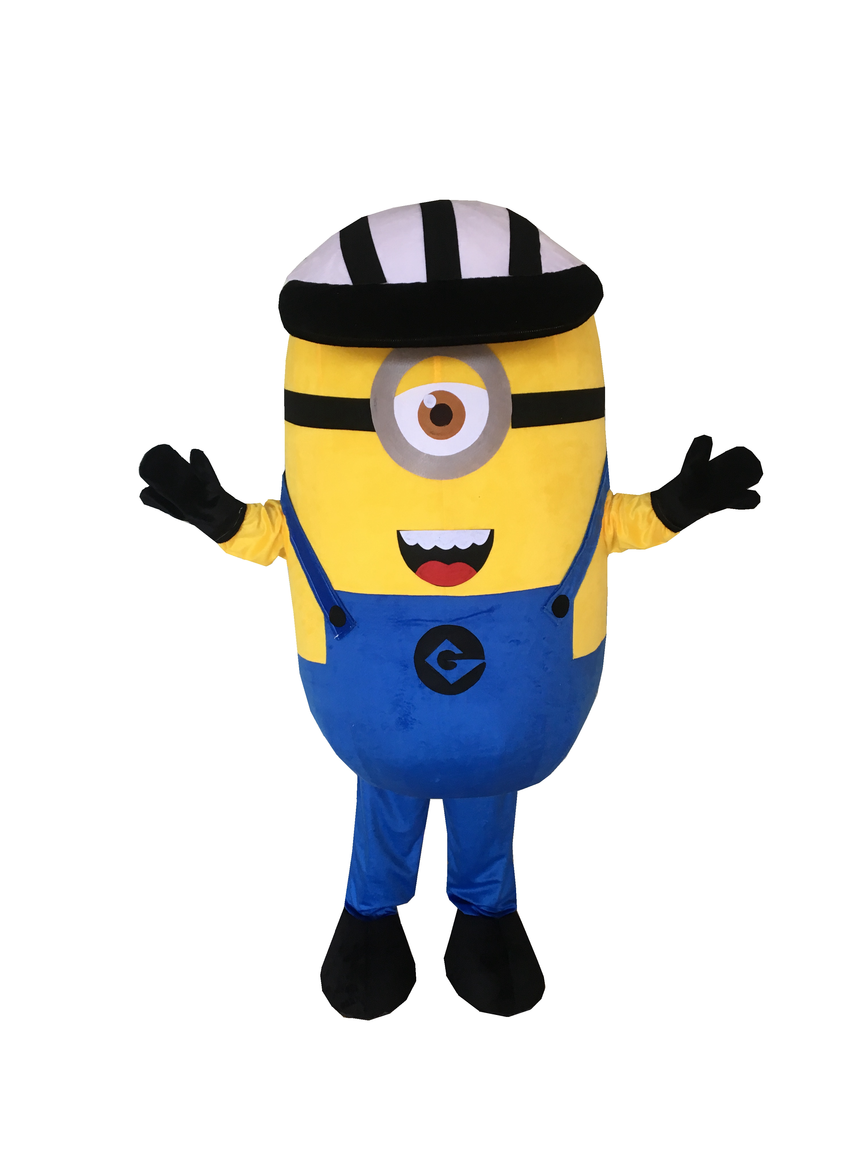 Cosplay Costumes Made Cartoon Movie Mean Minion Mascot Costume with Smile for Adult