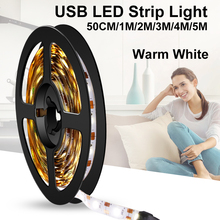 USB Led Strip Light Lamp DC 5V Flexible Diode Strips Tape Ribbon 5M Decoration Cable Wire PC TV Backlight Lighting
