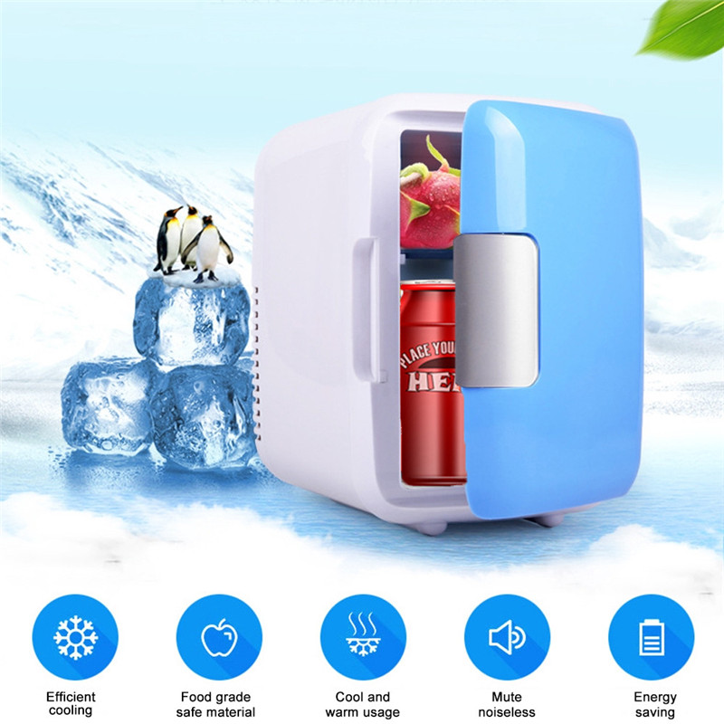 New Dual use 4L Home Car Use Refrigerators Ultra Quiet Low Noise Mini Car Refrigerator Freezer Heating Cooling Refrigerator Box-in Outdoor Tools from Sports & Entertainment
