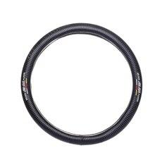 JDM Car styling for MUGEN power emblem diameter 38cm Carbon fiber steering wheel cover for honda mazda toyota nissan accessories цена и фото