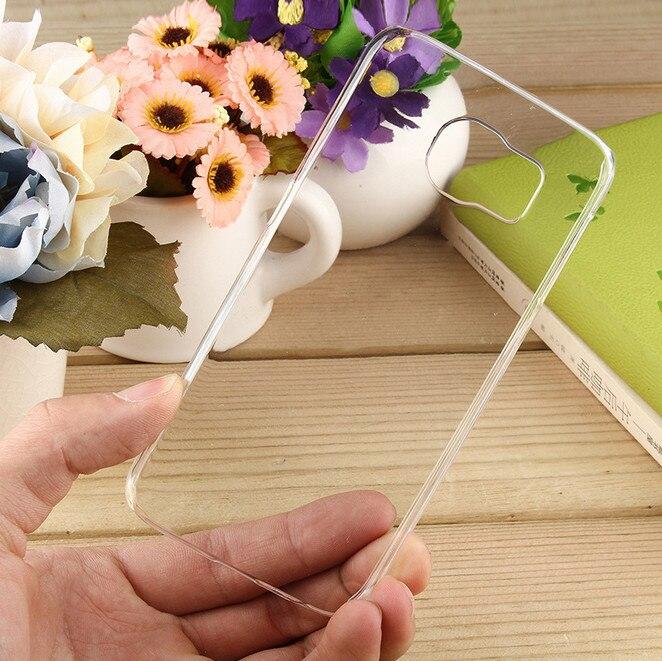 Цена за Для samsung Galaxy S3 S4 S5 S6 S7 S8 край плюс mini note 2 3 4 5 Прозрачный ПК Жесткий Вернуться Case