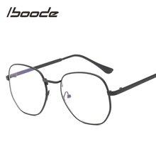 Iboode полигональные металлические очки для чтения, очки для дальнозоркости, мужские модные очки для чтения, трендовые очки для глаз Presbyipia+ 1,0~+ 4,0