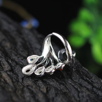 925 Sterling Silver Peacock Ring 3
