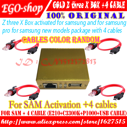Z3X-team Box  Activated For Samsung And Pro With 4 Cable C3300k/P1000/USB/E210 For New UpdateS7, S6 S5 Note4 Free Shipping