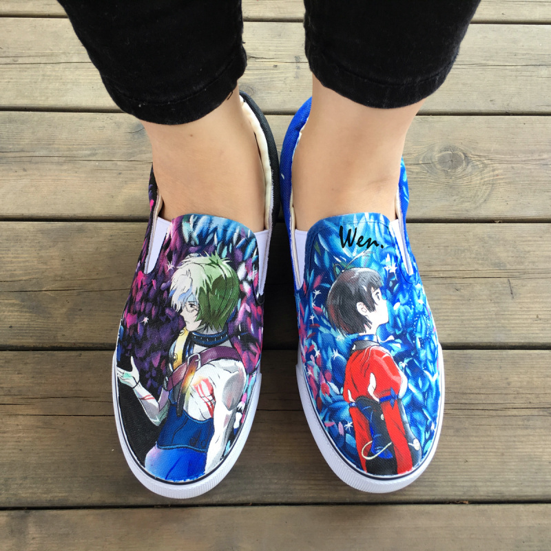Wen Anime Design Custom Hand Painted Canvas Shoes Kabaneri of the Iron Fortress Slip On Men Women bottom Sneakers Birthday Gifts wen design hand painted shoes custom anime samurai champloo slip on canvas sneakers for men women s special gifts page 4