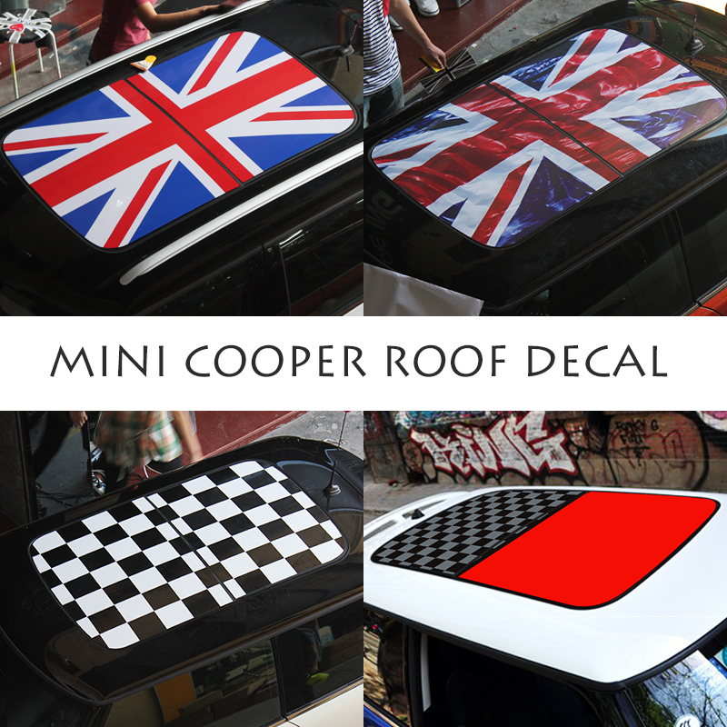 Mini Hatch Cooper Seven 5 Door Hatchback Special Edition: Mini Cooper Decal Roof Decal Creative Style Sticker Car