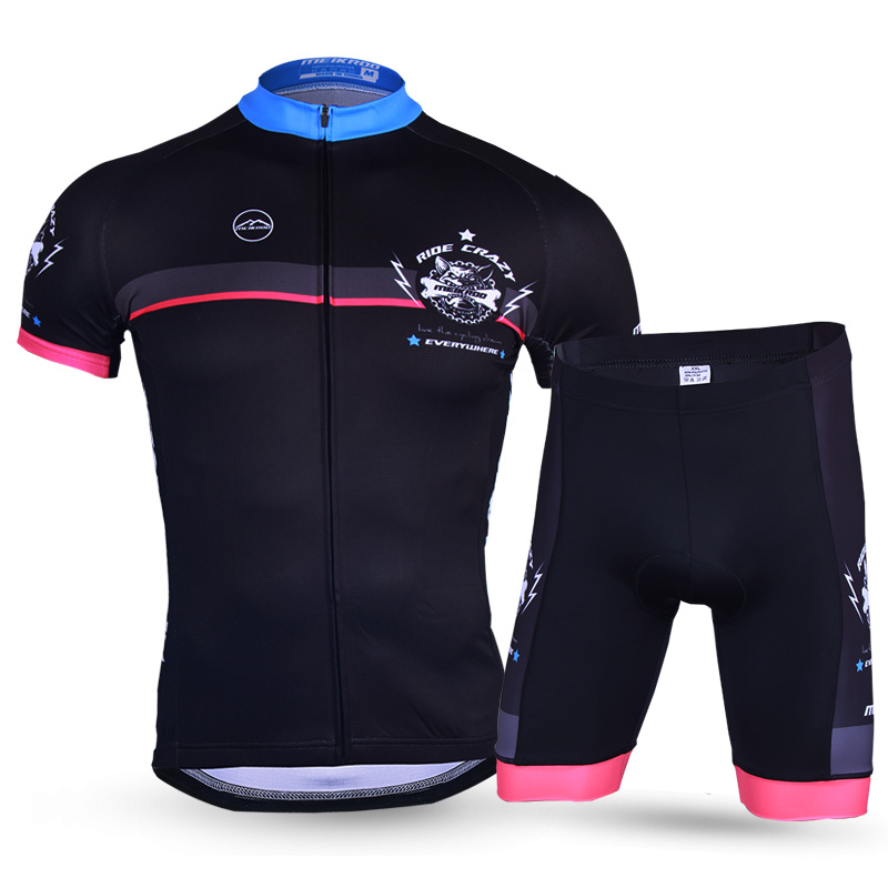 New Arrival Summer Breathable Ropa Ciclismo for Men Short Sleeve Black Jersey Sets Quick-Dry MTB Bike/Bicycle Dress Cycling Sets summer sports cycling clothes men s cycling jersey sets breathable quick dry mountain bike sports wear for spring women new