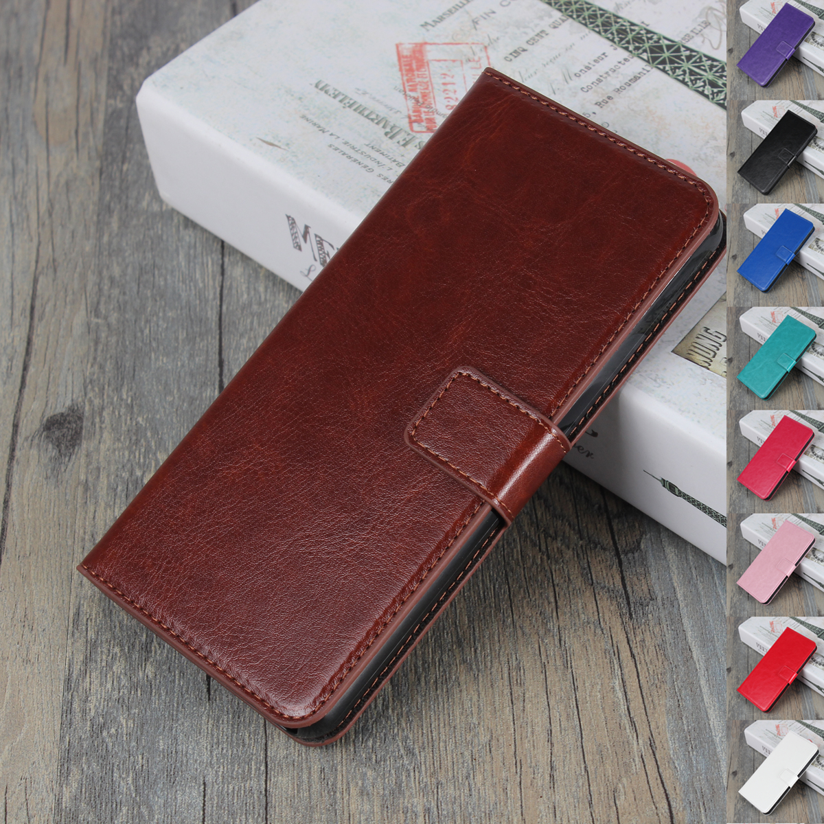 Beautiful Clip On Series Pu Leather Wallet Book Case For Lenovo Vibe X S960 Packing Of Nominated Brand Cases, Covers & Skins Cell Phones & Accessories