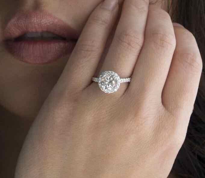 Модные хрустальные свадебные кольца в форме сердца, женские обручальные кольца из циркона, гламурные ювелирные изделия