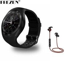 FREZEN Y1 Elegante Reloj Redondo NanoSIM y TF Tarjeta de Apoyo Con WhatsApp Y Facebook Negocio de Fitness Smartwatch Para Android teléfono