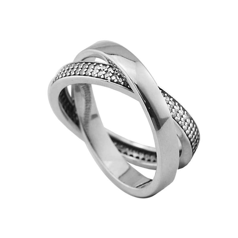 Promise Rings With Clear CZ 100% Authentic 925 Sterling-Silver-Jewelry Free Shipping