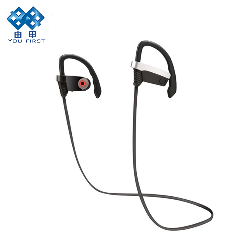 Bluetooth Earphone Wireless Sports Running Headset Ear Hook Handsfree Noise Cancelling Headphones With Microphone For Phone m163 mini wireless bluetooth headset headphones with microphone car handsfree single ear earphone for ipone xiaomi mobile phone