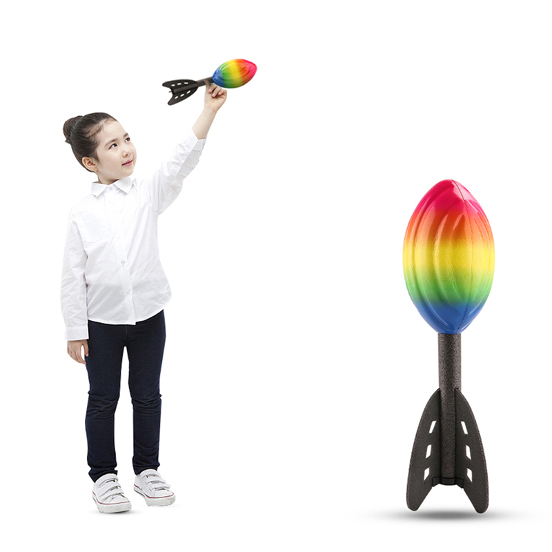 1pc New Outdoor Parent-child Games Toys Rainbow Sports Darts Throw a toy PU Missile Protection Export Polyurethane Foam Rocket