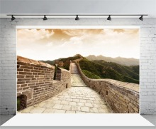 Laeacco Chinese Great Wall Mountains Scenic Photography Backgrounds Vinyl Customs Camera Photographic Backdrops For Photo Studio