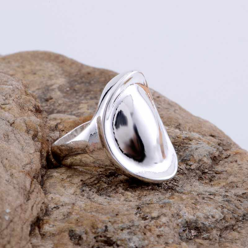 shiny simple Wholesale silver plated ring 925 Fashion jewelry Silver Ring 925sterling-silver OCAOLZWG