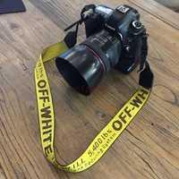 Sangle de cou en néoprène blanc cassé pour Canon nikon pentax sony fuji olympus appareil photo reflex numérique rose jaune argent couleur noir