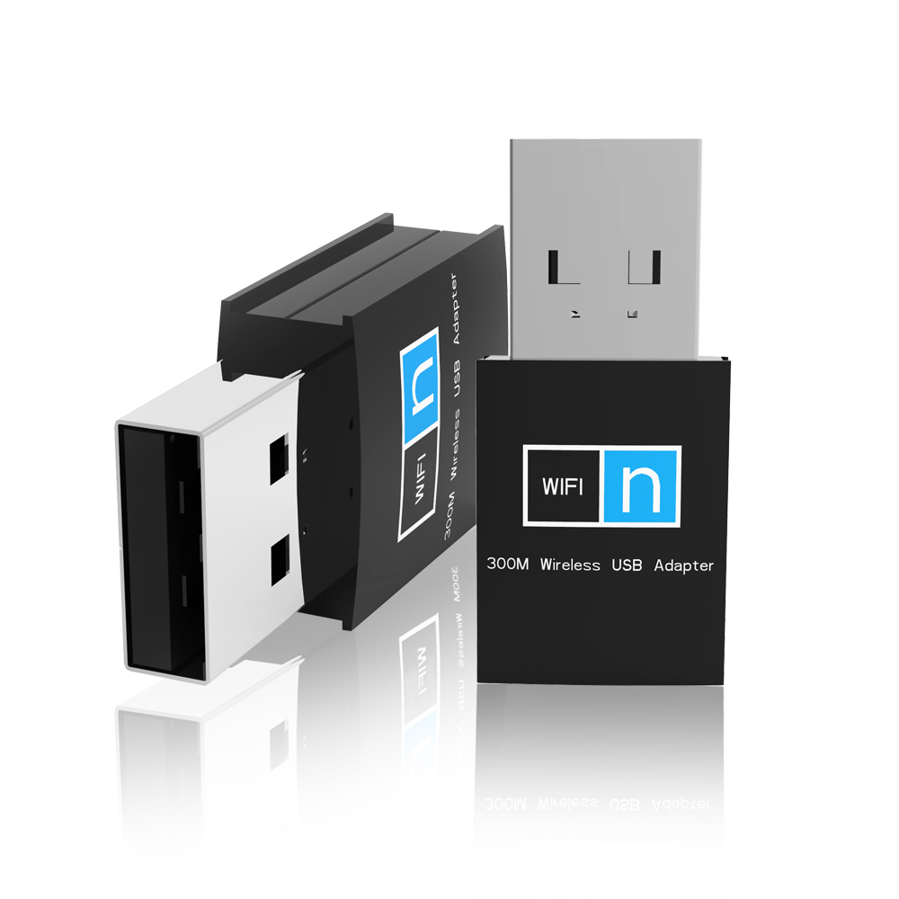 Top Quality 300Mbps Mini USB 2.0 RTL8192 Wifi Dongle Wireless LAN Network Card 802.11n/g/b Wi Fi Adapter Wi-fi XC1289