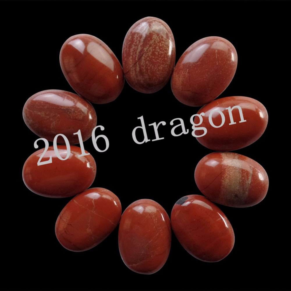 (10 pieces/lot) Wholesale Red Jaspre Oval CAB Cabochon 20x15x6mm Free Shipping Fashion Jewelry