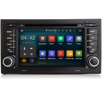 For Audi A4 Car DVD Radio Player GPS Navigation System Audio Video Stereo Media Support TPMS DVR DVB T OBD2 DAB+ 4G WiFi