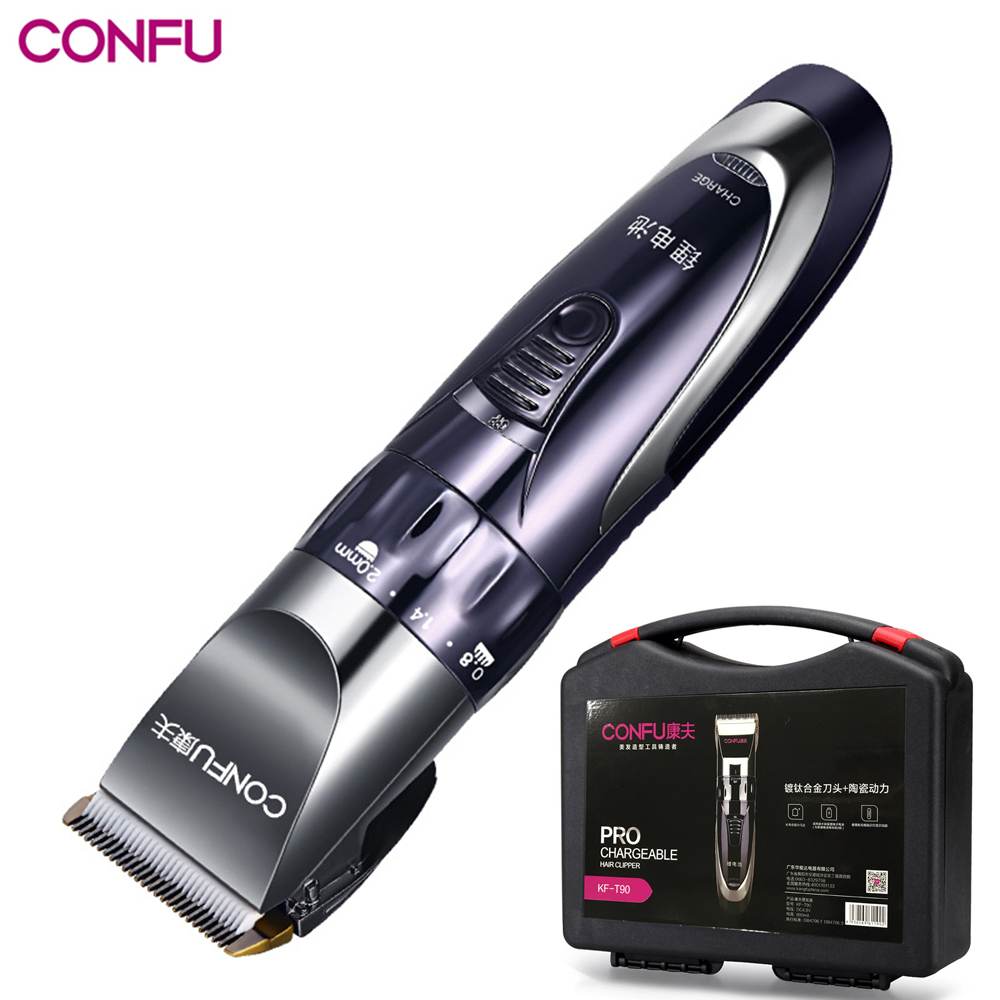 110v-220v Professional Electric Hair Trimmer Hair Clipper Ceramic Titanium Knife Hair Cutting Machine For Men Baby With Toolbox