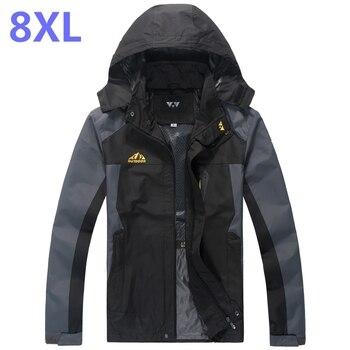 plus size 10XL 9XL 8XL 2018 New Men's Casual Jackets Man's Army Waterproof Coats Male Jacket Breathable Windproof Raincoat