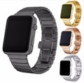 YIFALIAN Black White Glossy Ceramic Watch Band Strap for Apple Watch iwatch 38/42mm Link Bracelet Butterfly Buckle