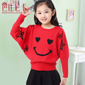 Free shipping children swear kids New Casual Girls Full Sweaters Autumn winter girls cardigan sweater smile batwing coat girl59
