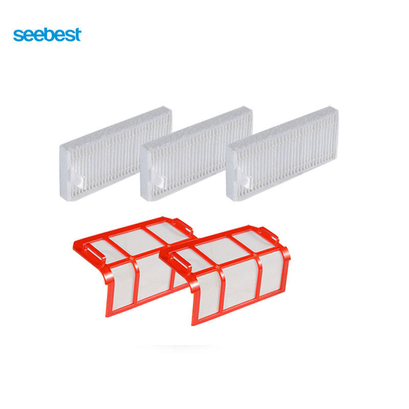 Seebest Robot Vacuum Cleaner Spare Parts Filter Frame and Filters for D750,D730,D720 seebest d750 d730 d720 robot vacuum cleaner spare parts filter for replacement