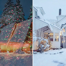 New Year Christmas Lights Outdoor Lawn Light Sky Star Laser Spotlight Light Shower Landscape Park Garden Light Garden Party Dec