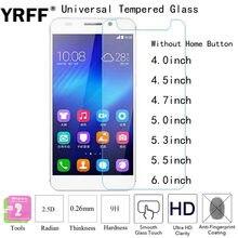 2 PCS Protetor de Tela de Vidro Temperado 2.5D Filme Universal 4.0 4.5 4.7 5.0 5.3 5.5 6.0 polegada Para Huawei ZTE Lenovo LG UMI Samsung