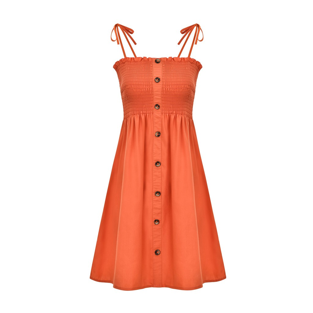 Sexy Womens Dress Fashion Ladies Solid Color Bind Buttons Casual Mini Beach Dress Casual Ladies summer dress vestidos verano NEW