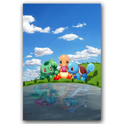 Pokemon Charizard Game Poster Anime Wall Art Canvas Print Painting 30x45 60x90cm Decorative Picture Wallpaper Living Room Decor