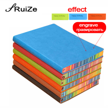 Лучшие Ruize симпатичный ноутбук a5 кожаный ежедневник школьные принадлежности творческий Канцелярские Красочные край журнал записная книжка может выгравировать имя подарок