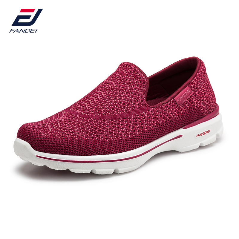 FANDEI 2017 breathable mesh running shoes for women and men sneakers women comfortable slip on sport shoes women cushioning 2017brand sport mesh men running shoes athletic sneakers air breath increased within zapatillas deportivas trainers couple shoes
