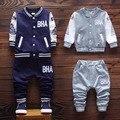 2016 Otoño ropa de los nuevos niños chaqueta de algodón con pantalones casuales niños bebés ropa A073
