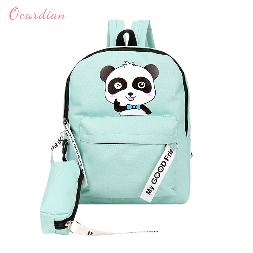 d5afe45301d Ocardian backpacks Cute panda print backpack schoolbag women backpack small  teenager new term school backpack JL