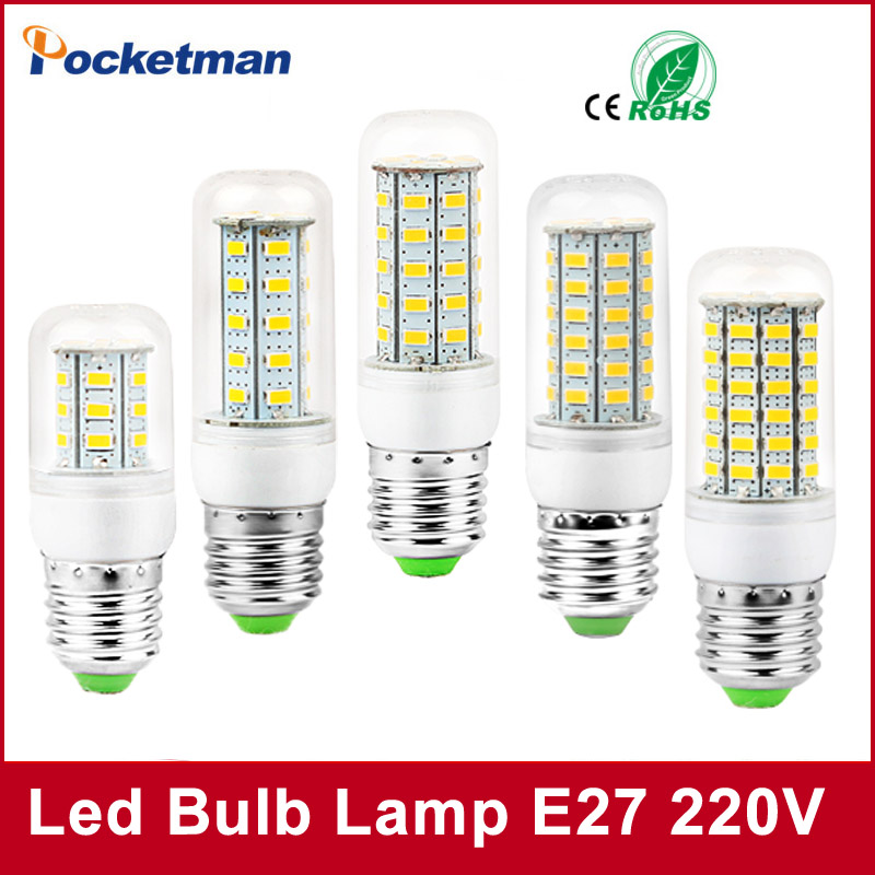 2017 LED E27 Bulb 24/36/48/56/69 LEDs 220V bombillas led light Bulb lamp E27 E14 Warm White/Cold White Free Shipping 5pcs e27 led bulb 2w 4w 6w vintage cold white warm white edison lamp g45 led filament decorative bulb ac 220v 240v