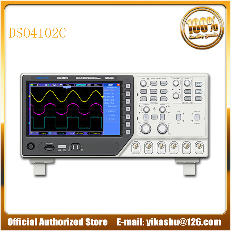 Hantek DSO4102C Digital Multimeter Oscilloscope USB 100MHz Bandwidth 2 Channels Handheld Osciloscopio Portatil Logic Analyzer