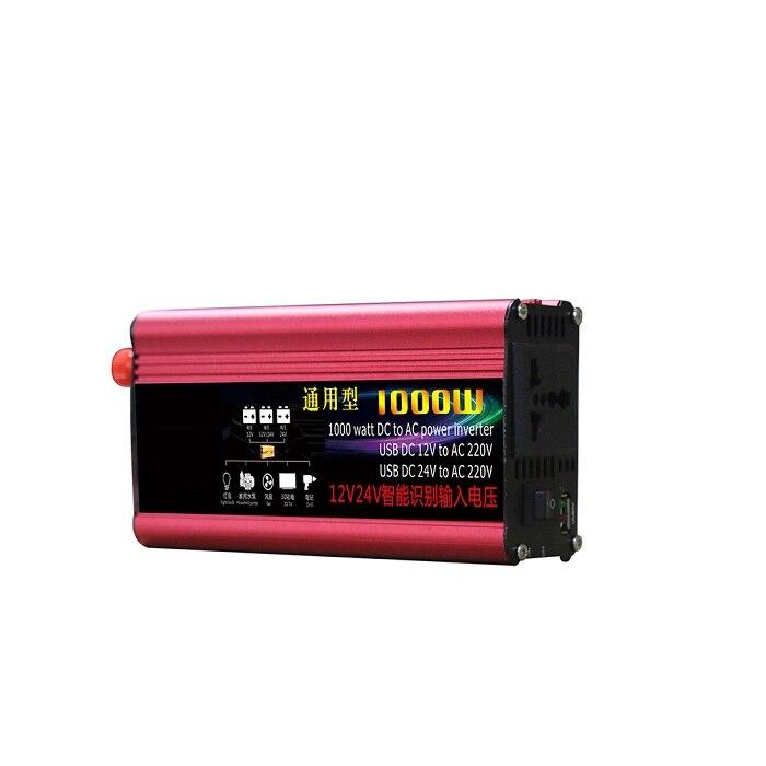 цена на Automobile Car Power Inverter 1000W DC 12V-24V auto work to AC 220V Modified Sine Wave Power Inverter