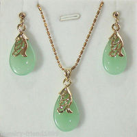 Hot selling> Pendant necklace earring set +free chain Bride jewelry free shipping