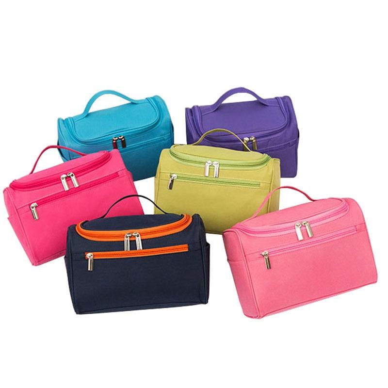 brand high-capacity hook-type men's women waterproof makeup bag beautician travel organizer cosmetics cosmetic bag цена