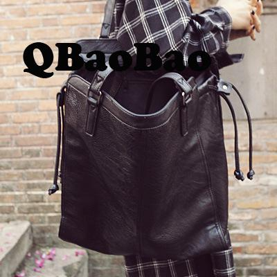 High Quality Women Tote Big Female Bag Casual Large Size Women Shopping Bag Black Simple Design Women Shoulder Bag 42cm high quality tote bag composite bag 2