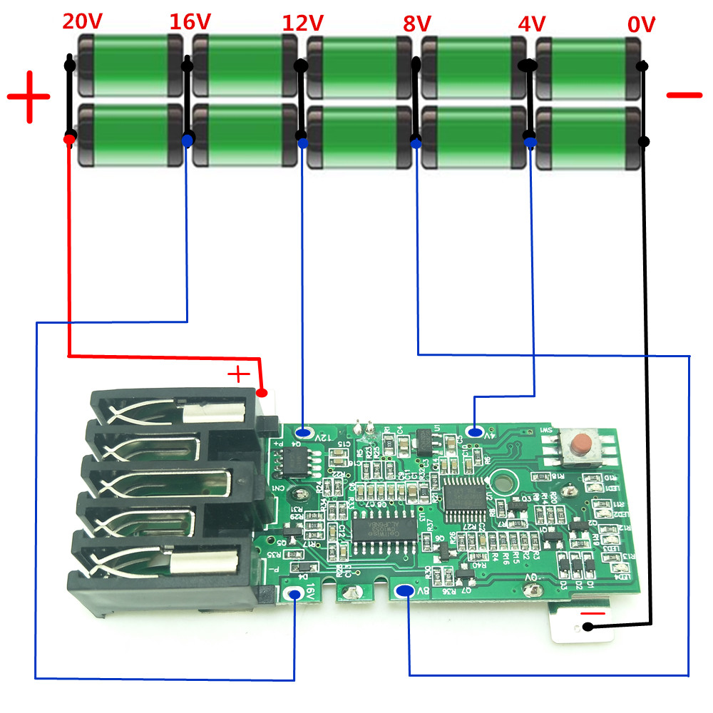 For Milwaukee M18 18V Replacement PCB Board Electric Power Tool Lithium  Battery Protection Circuit Board-in Replacement Batteries from Consumer  Electronics ...