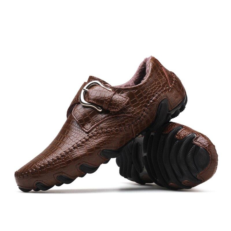 With Top Peau Mode Mocassins Oxfords brown Hombre Véritable Fur brown Cuir Chaussures Doux De Confortable Appartements Crocodile Fur Black Hommes Et Marque black En Zapatos HOYwxxP
