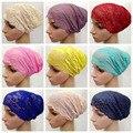 Envío Libre de la Cubierta Completa de Cabeza Head Wear Sombrero Underscarf Tapa Encaje Hijab Islámico Musulmán Interior D66