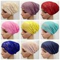 Free Shipping Full Cover Head Inner Muslim Lace Hijab Cap Islamic Head Wear Hat Underscarf   D66