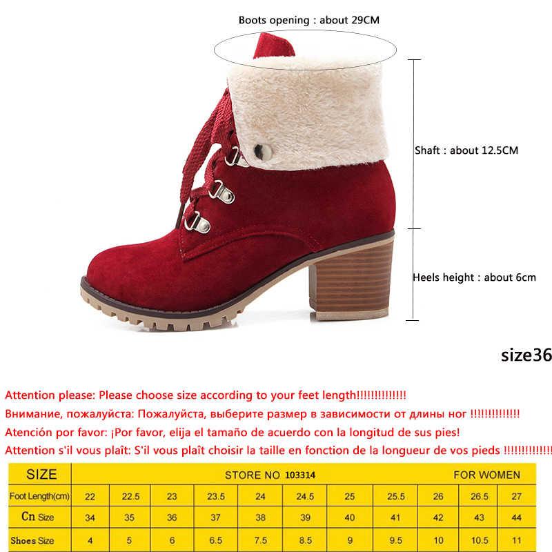 KARINLUNA 2020 en İyi kalite 7 renkler büyük boy 43 rusya kar botları kadın moda eğlence sıcak kürk kış yarım çizmeler ayakkabı