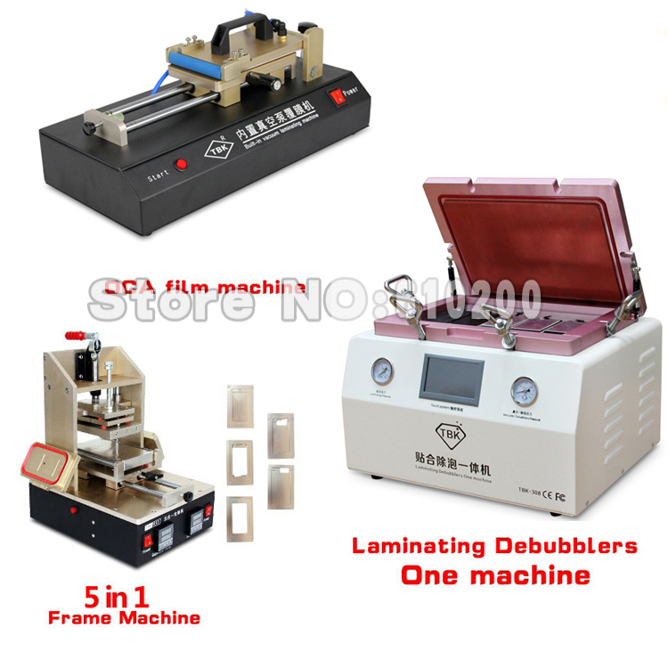 TBK 308 Full Kit OCA Vacuum Laminating machine Remover Machine Debubbler+OCA Film laminating machine+OCA Frame machine 110V/220V