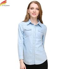 New 2018 Spring Woman Denim Shirt Fashion Style Long Sleeve Casual Shirts Women 2 Colors Blouses Plus Size Blusa Jeans Feminina